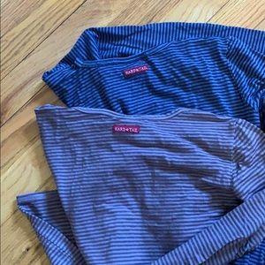 2 Hardtail long sleeve striped shirts XS